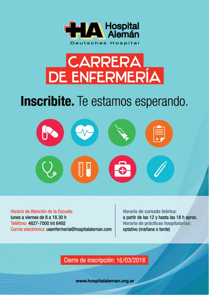 Carrera De Enfermer A Inscripci N 2018 Hospital Alem N
